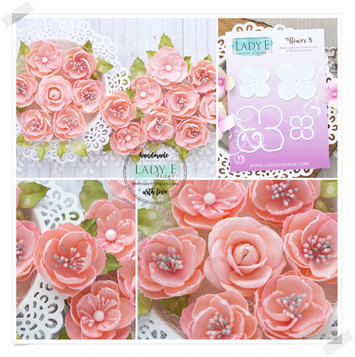 Lady E Design Flower 8 Cutting Die Set