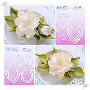 Lady E Design Flower 003 & Leaves 001 Cutting Die