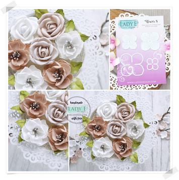 Lady E Design Flower 8 Cutting Die