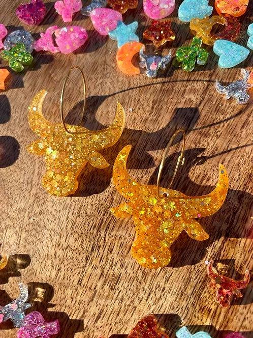 GOLD longhorn hoops