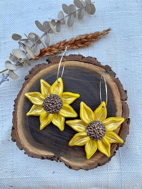 Sunflower Hoops