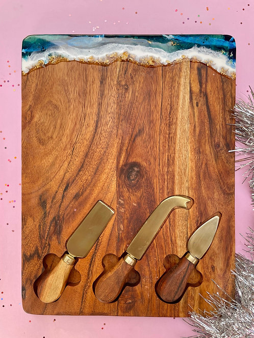 cheese knife serving board #19