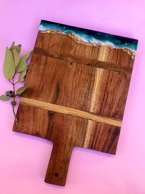 Square paddle serving board #16