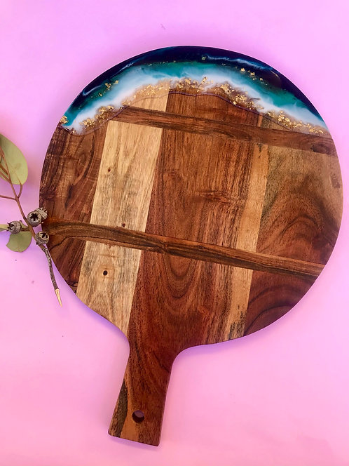 Round paddle serving board #7