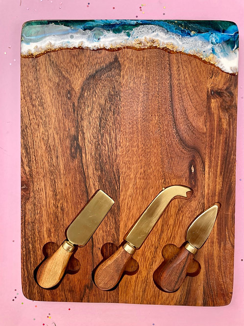 cheese knife serving board #18