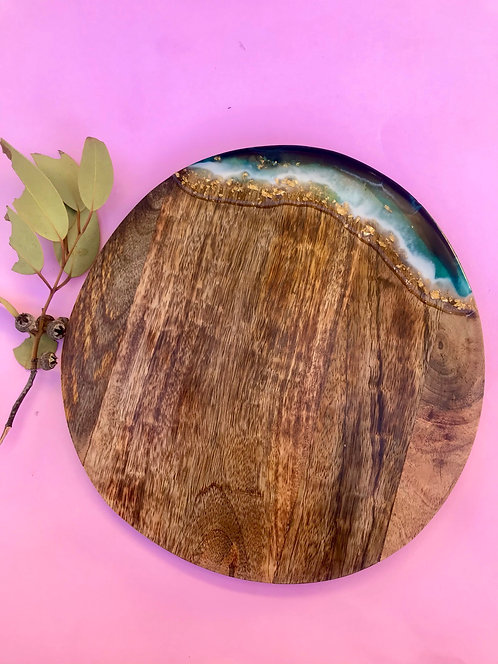 Almost round serving board #13