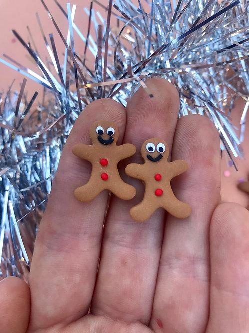 Gingerbread men studs