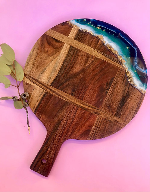 Round paddle serving board #9