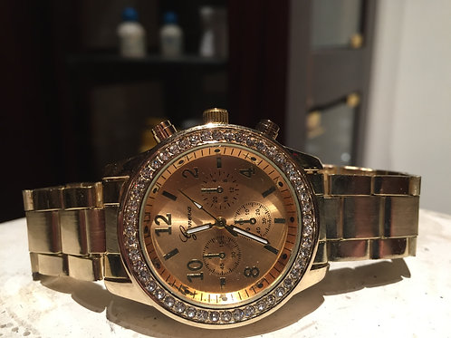 Gold Tone Ladies Watch Chronograph