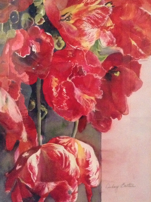 Red Tulips (Painting Sold)