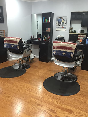Two of the chair that we use at Kris's to give great barber cuts and buzz cuts to clients from the community.