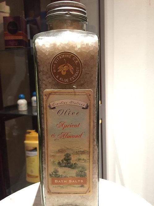 Olive Apricot Almond Bath Salts