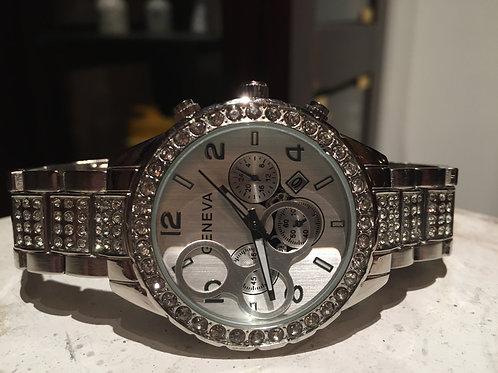 Stainless Steel CZ Bezel Timepiece