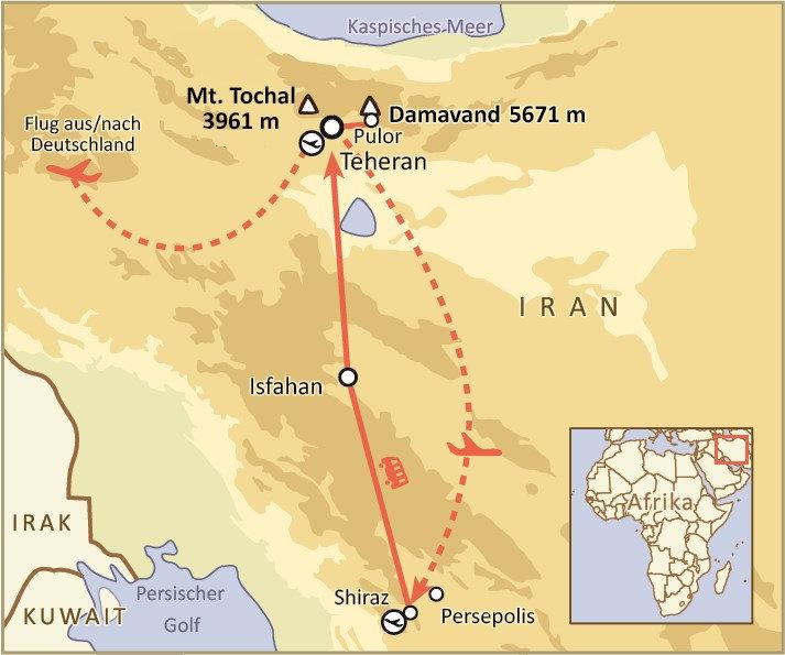 At Tour Karte Alm Tochal - Demavand - Ku