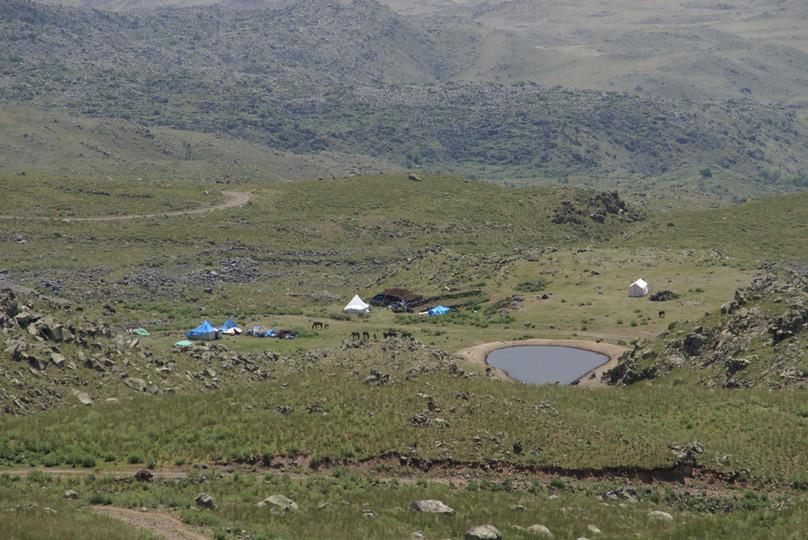 Blick auf das Nomadencamp (Ararat 2700m)