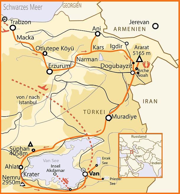 At 15 Tage  Orchiden Trabzon-Van karte.j