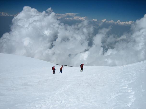 Kurz vor dem Gipfel des Ararat