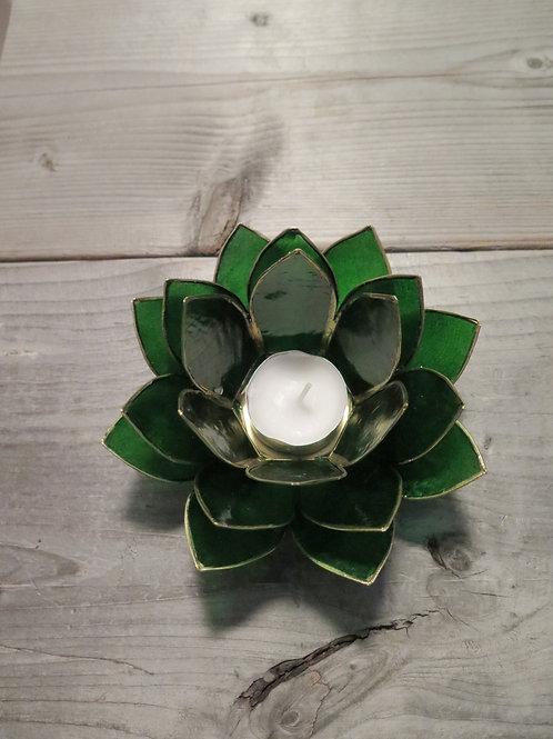 Lotus T-light Holder - green