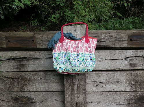 Red Leaf Print Bag