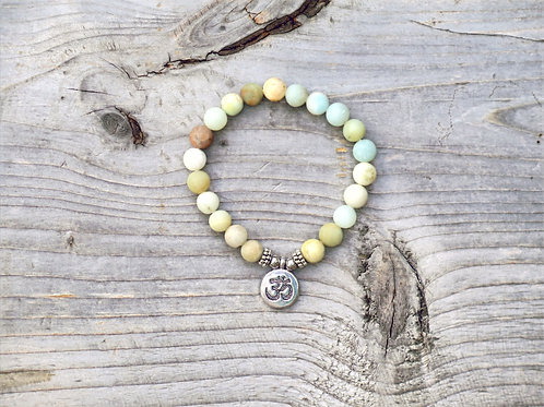Amazonite Ohm bracelet
