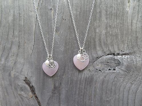 Rose Quart Heart - Buddha - Ohm