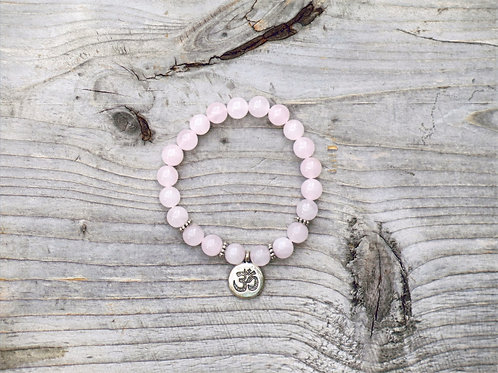 Rose Quartz Ohm bracelet