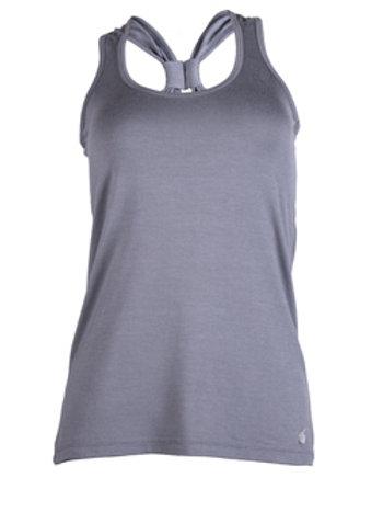 Halter back tank - grey