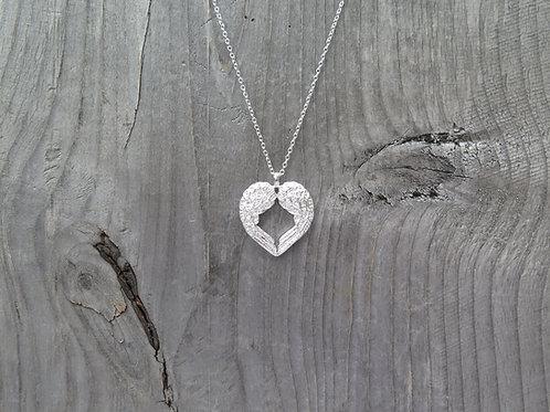 Necklace - Angel Heart Wings