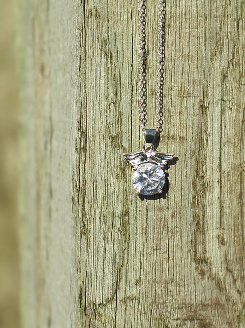 Necklace - Angel round stone