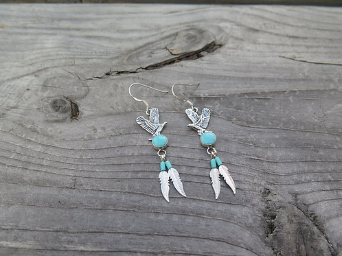Turquoise Eagle Earrings