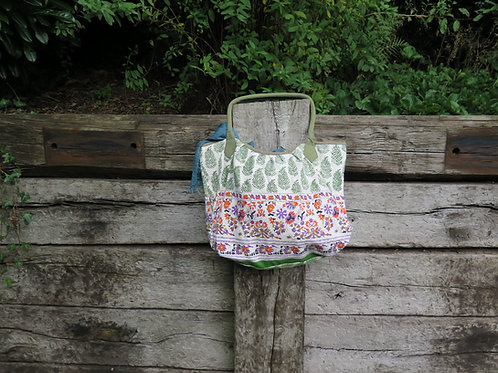 Green Leaf Print Bag