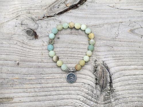 Amazonite Lotus bracelet