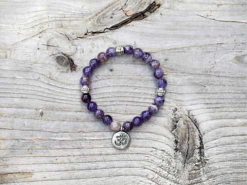 Amethyst Ohm bracelet