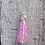 Thumbnail: Pink Tassel Necklace - choose your charm