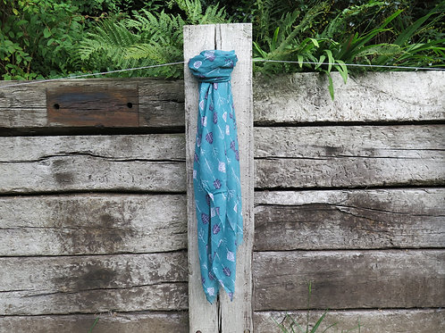 Scarf Turquoise - Trees