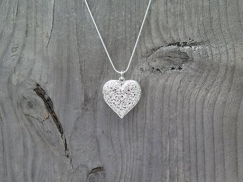Necklace - Flower Heart