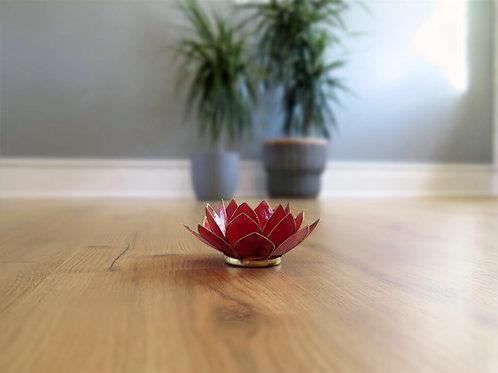 Lotus T-light Holder - red