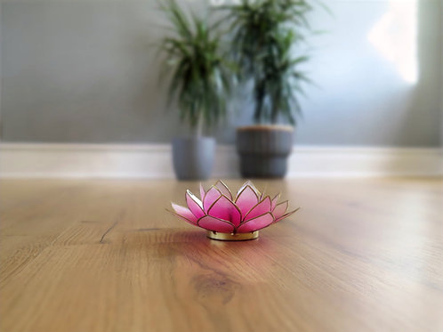 Lotus T-light Holder - pink