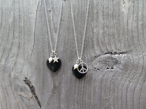 Onyx Heart - Star - Peace
