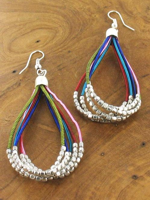 String nugget earrings