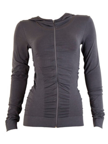 Jacket - gathered seamless - grey