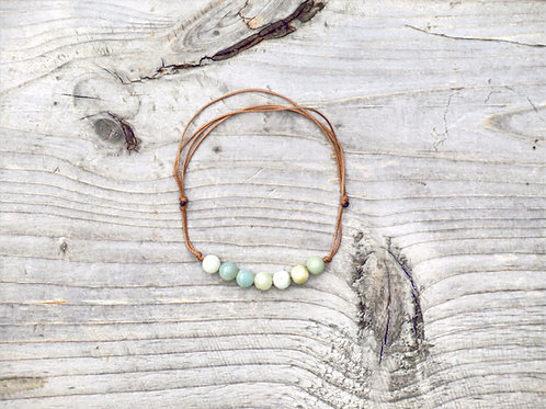 Amazonite string bracelet
