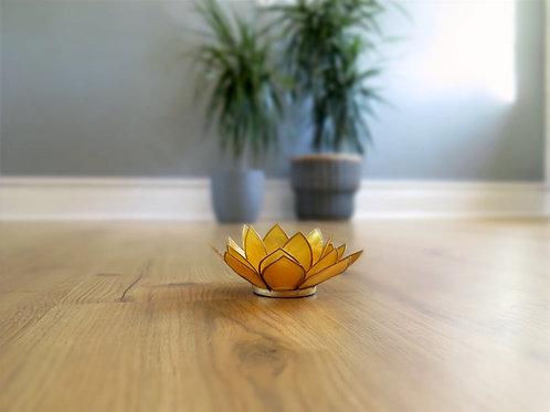 Lotus T-light Holder - yellow