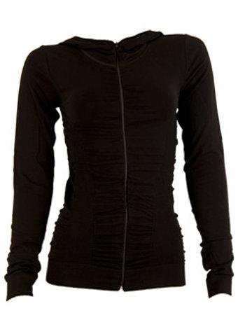 Jacket - seamless gathered - black