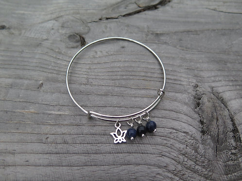 Bangle - sodalite - choose your charm