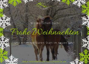 Das Hirschquelle-Team wünscht Euch frohe Weihnachten!