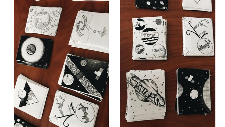 Astronomy and Art TRADING CARDS Lesson (
