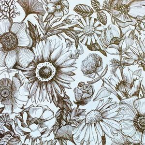 Brown Pen Flowers 2015
