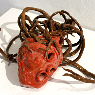 Heart- ceramic art