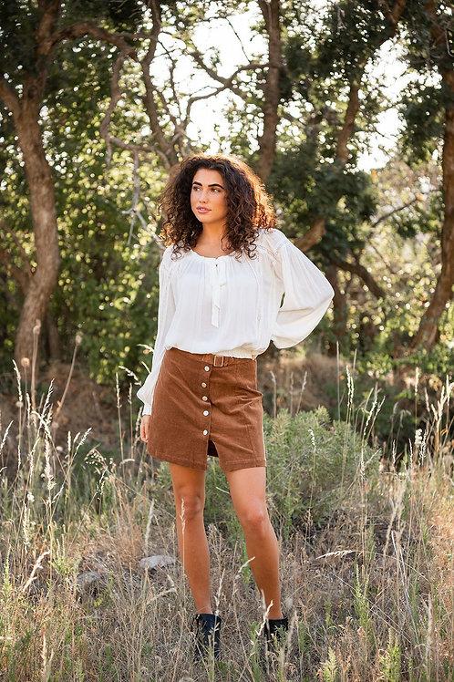 Can't Wait Corduroy Mini Skirt